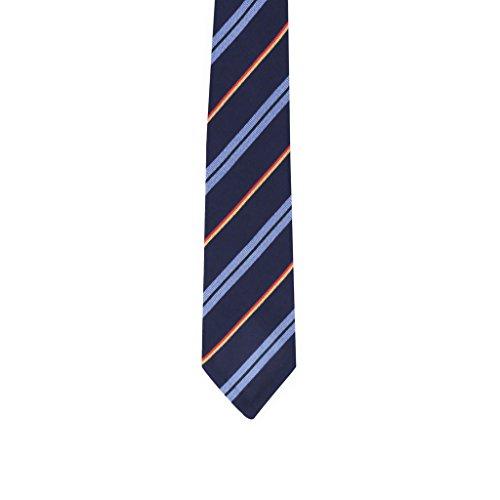 Diagonal regimental tie - navy by Cremieux