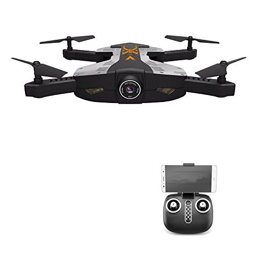 Physport Foldable RC Drones with 2MP HD Camera Remote Control Quadcopter Toys Gravity Sensor Mode with LED Lights