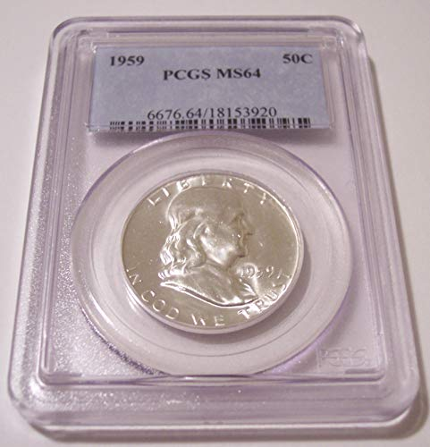 1959 Franklin Half Dollar MS64 PCGS