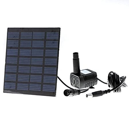 Blue Stones Brush-less Solar Water Pump Power Panel Kit Fountain Pool Garden Watering Pump