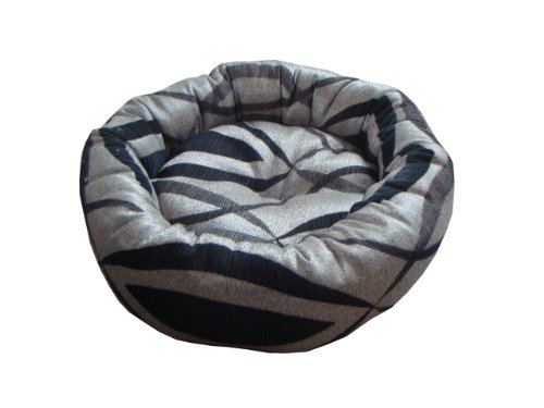 Anima Silver Black and Grey Woven Donut Bed, 18 by 6-Inch, Small, My Pet Supplies