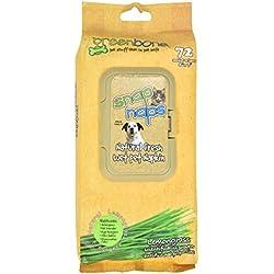 Greenbone Snap Naps 72 Count Natural Lemongrass Deodorizing Pet Wipes