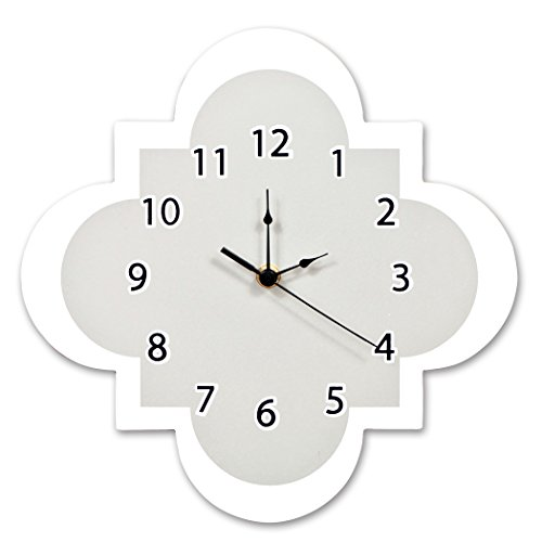 Trend Lab Quatrefoil Wall Clock, Gray
