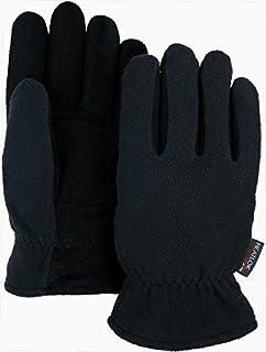 WARM-WINTER Thermal Heatlok Insulated-Deer Suede Gloves-Black-Tan-XL-Size 11