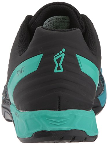 F Inov Teal W Trainer 260 Knit Women's 8 Lite Black Cross PzBTrnPW