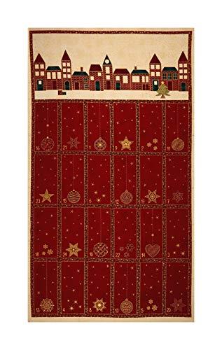 [해외]Stof Fabrics Denmark Amazing Stars Advent Calendar 24in Panel Metallic GoldDark Red / Stof Fabrics Denmark Amazing Stars Advent Calendar 24in Panel Metallic GoldDark Red