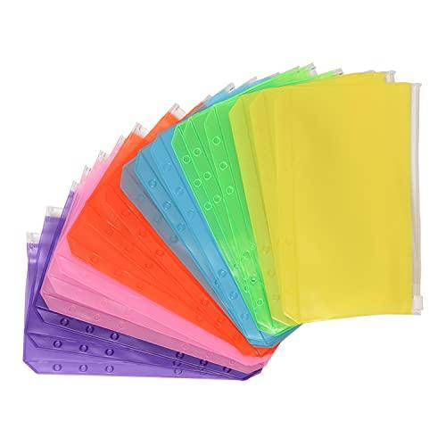 Folios A6 impermeables colores c/cierre zipper pack 18