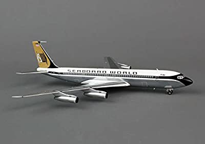 BBOX7070214P AVIATION200 Seaboard World 707 1/200 Polished Model Airplane