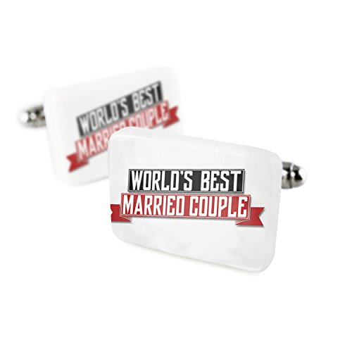 Cufflinks Worlds Best Married Couple Porcelain Ceramic NEONBLOND by NEONBLOND
