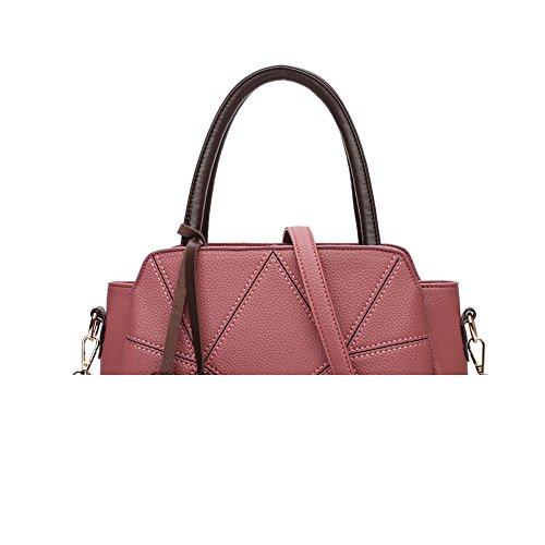 7df5207684 Sac de marque : Happyells.com magasin de rabais de sacs Meaeo Élégant Sac À  Bandoulière Litchi Sauvage Gris Pink