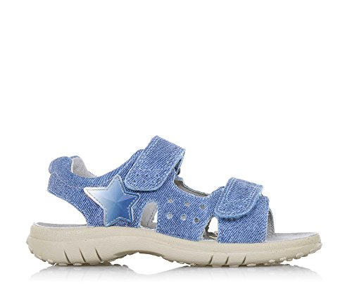 NATURINO - Sandalia azul de denim, doble cierre de velcro lateral, con decoración lateral de caucho, Niño, Niños