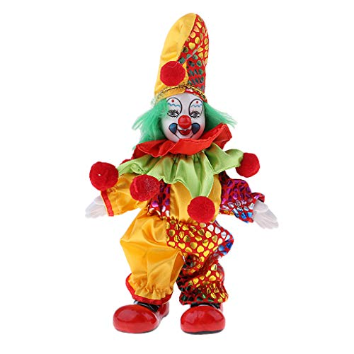 SM SunniMix 6inch Lovely Handmade Clothing Clown Doll Halloween Christmas Decor Gifts #1