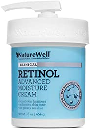 NATUREWELL Retinol Advanced Moisturizing Cream for Face and Body, 16 Oz