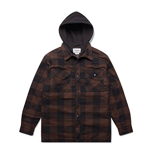 Boston Traders Men's Hooded Flannel Jacket (XX-Large, - Outlet Boston