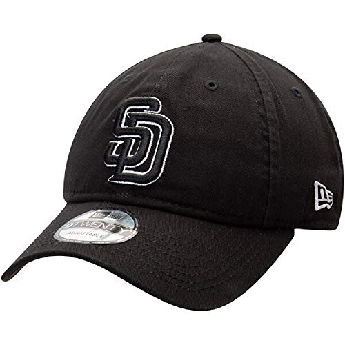 New Era San Diego Padres Black Replica Core Classic Twill 9TWENTY Adjustable Hat Cap (San Diego Padres Hat)