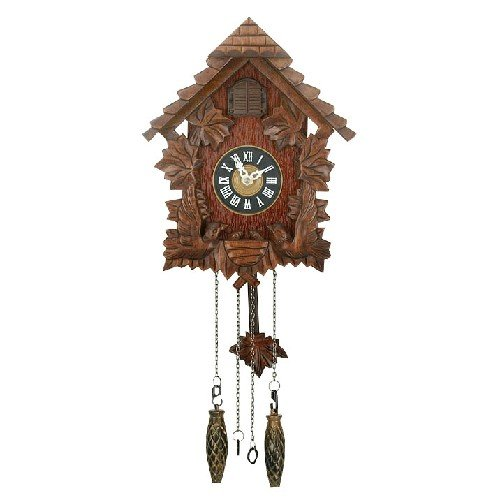 Qtz Cuckoo Clock - Wooden - Pitched Roof Anablep W6760