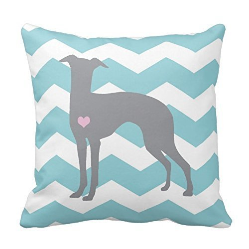 Generic Pillow Cover Cotton 16 X 16 Inches Italian Greyhound Throw Pillowcase