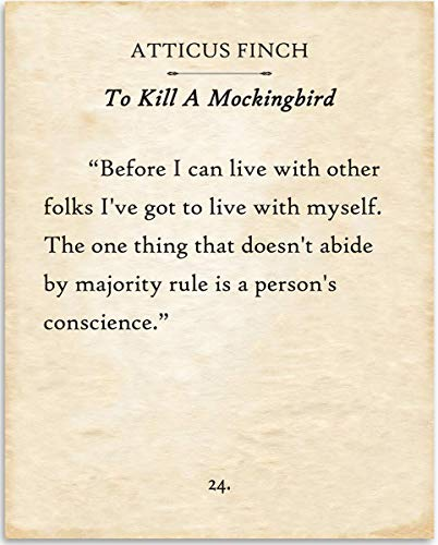 Atticus Finch - Before I Can Live With Other Folks - 11x14 Unframed Typography Art Print - Great Gift for Book Lovers, Also Makes a Great Gift Under $15 from Personalized Signs by Lone Star Art