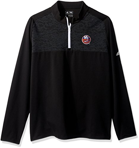 NHL New Jersey Devils Men's Climawarm Fashion 2 Layering Pullover Top, Small, Black