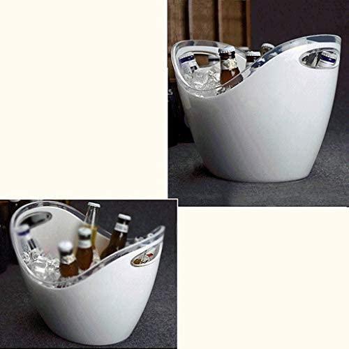XLEVE プラスチック製の楕円形の収納浴槽、ワイン、ビール瓶のドリンククーラー、締約国のアイスバケット、パーティー飲料チラ