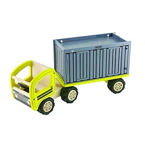 Pintoy mit 17565 LKW mit Pintoy Container Holz eb4603