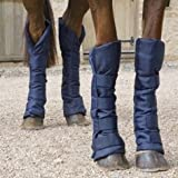 Shires Travel Sure Economy Travelling Boots: Navy Blue: Pony