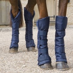 Shires Travel Sure Economy Travelling Boots: Navy Blue: Pony by Shires