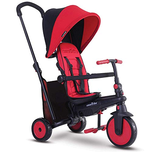 smarTrike Smartfold 300 Folding Baby Tricycle, Red (Best Trike For 2 Year Old)