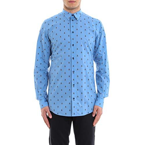 & Shirt Gabbana Dolce Dress Cotton (Dolce e Gabbana Men's G5eb4tfs52rhc613 Light Blue Cotton Shirt)