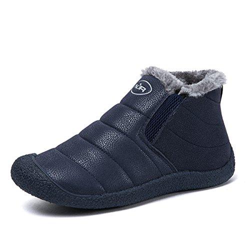 Libre Cortas Invierno Zapatos Azul Fur Planas Botines Boots Cortas Mujer Botines Impermeables Zapatos Aire Forradas Botas Calientes de Nieve Gracosy Boots Tobillo WO4Unzqw