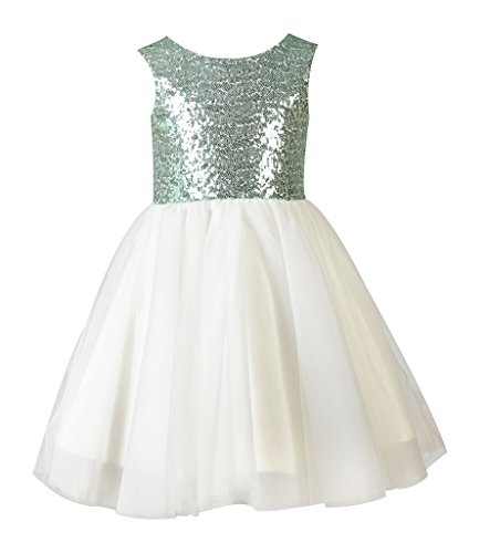 68fc5ea7a Thstylee Girl's Sequin Tulle Flower Girl Dress Junior Bridesmaid ...