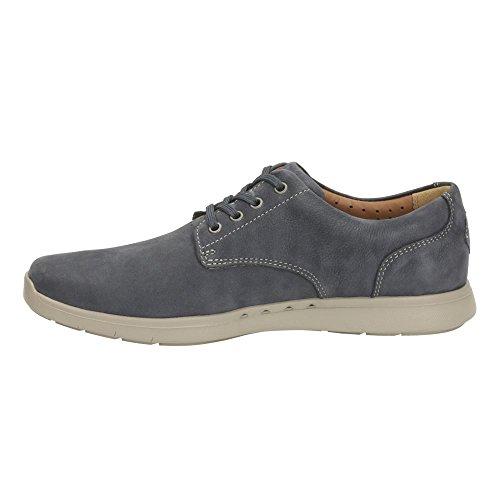 Clarks Unlomac Edge men's casual shoes in Navy Nubuck/Brown Nubuck Brown Nubuck 5Lwqh