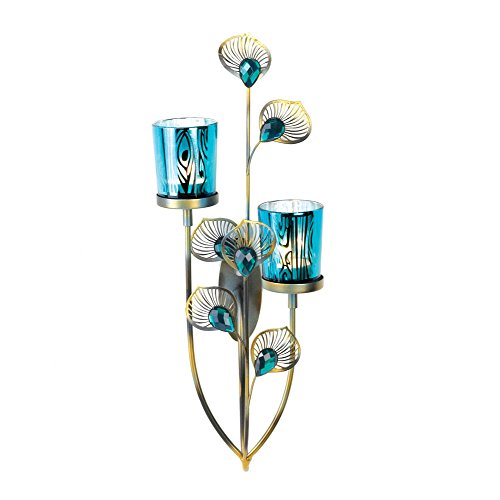 Peacock Plume (Exotic Peacock Plume Wall Sconce)