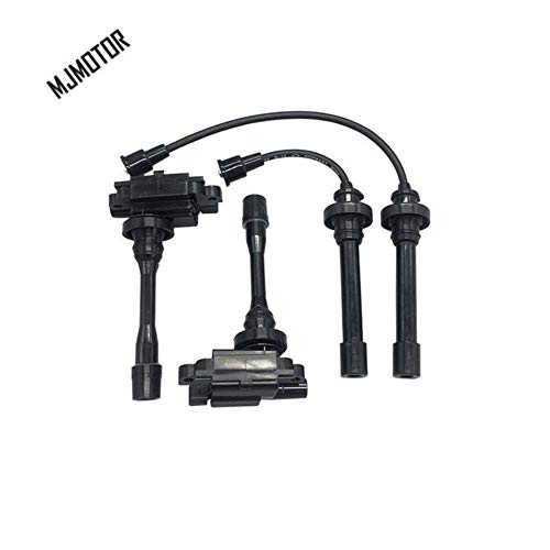 Ignition Coil and Ignition Wire Set for Mitsubishi Lancer 4G18 engine Auto car motor parts,coil 2pcs cable 2pcs: