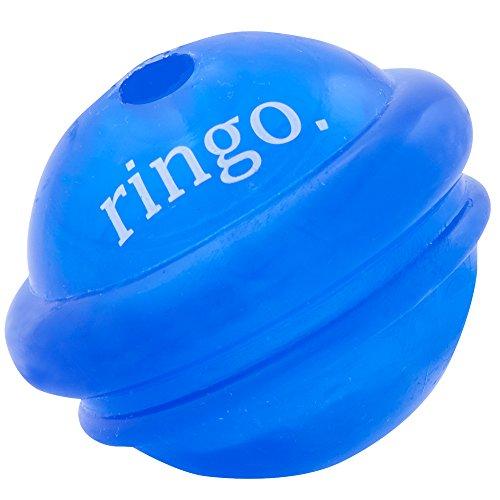 Planet Dog Orbee Tuff Ringo, Saturn Dog Ball Toy, Made in The USA, Medium, Royal Blue