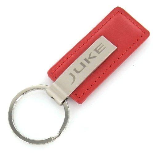 Nissan Juke Red Leather Rectangular Key Chain