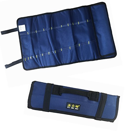 Tool Roll Pouch Wrench Roll 22 pockets Blue