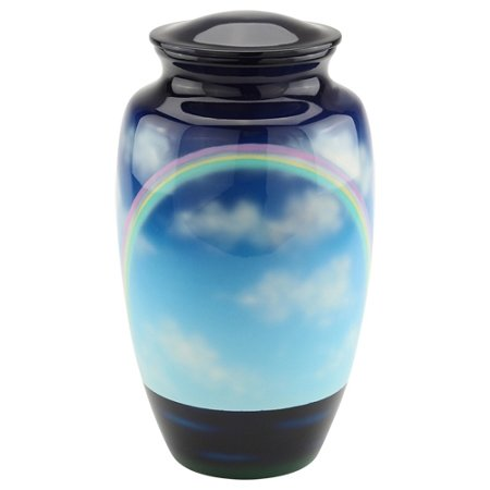 Silverlight Urns Rainbow Cremation Urn for Ashes, Aluminum Memorial Urn, Adult Size, 10 Inches (Rainbow Urn)