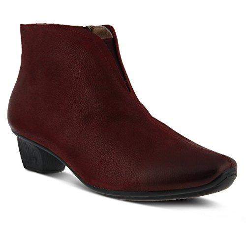 Shoes Women's Leather Step Bootie Bordeaux Aellice Spring xHZzq