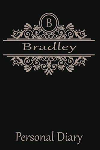 B Bradley: Cute Initial Monogram Letter Blank Lined Paper Personalized Notebook For Writing & Note Taking Composition Journal