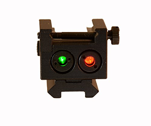 Green Laser and Red Laser Duo-Laser Sights for Subcompact Pistols Like Walther P99, Springfield XD 5, Beretta PX4, or Any Subcompact Pistols with Rail, Rechargeable Battery and USB Charger Included by HiLight