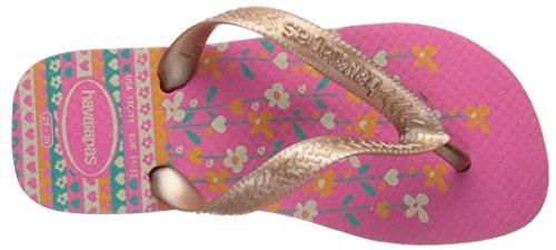 Havaianas Kids Flores Sandal, Shocking Pink/Rose Gold 23/24 BR/Toddler (9 M US) - Image 8
