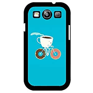 Samsung Galaxy S3 I9300 Cell phone Case,Unique Bicycle Design Delicious Dessert Donut Phone Case Cover for Samsung Galaxy S3 I9300 Sweet Cookies Design