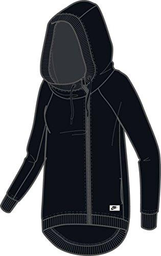 NIKE Womens Cotton Blend Asymmetrical Zip Athletic Jacket Black XL by NIKE