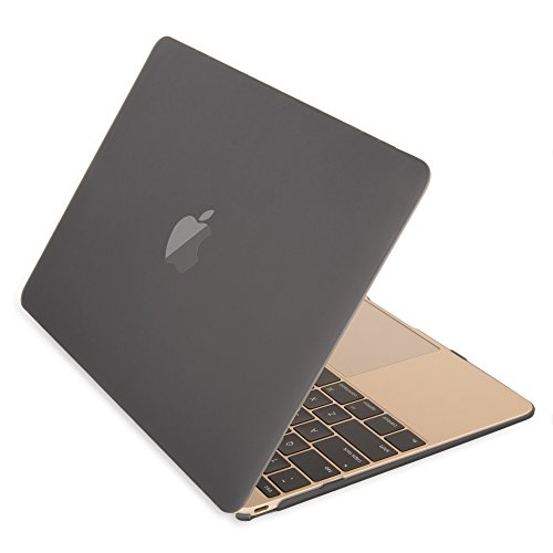 The New Apple Macbook Case12 inch with Retina Display Laptop Computer [2015 Rlease] Mosiso [Gold Gray Black WhiteFrost ClearCrystal] Hard Shell Protective Case Smooth Matte Finish (Black)