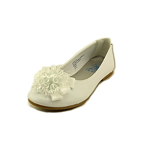 Girls Flats with Crystal Bead Bow (12, -