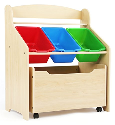 Tot Tutors Kids' Store-All Unit, Natural Finish (Little Tikes Toy Chest)