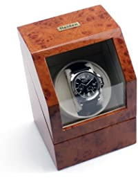 Battery Powered Single Watch Winder in Burlwood