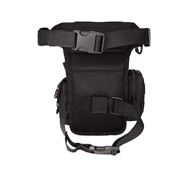 Huntvp Bolsa de Pierna Bolsa Táctical Militar Impermeable para Correr Senderismo Ciclismo Camping Caza, Negro/Verde… 4