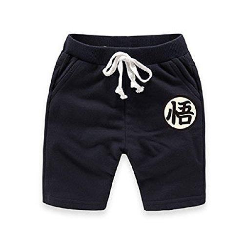 Dragon Ball Z Baby Kids Fifth Pants Cotton Shorts Trousers (M, Black) ()